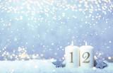 2. Advent Hintergrund Himmel blau Bokeh Kerzen Sonntag - 236825543