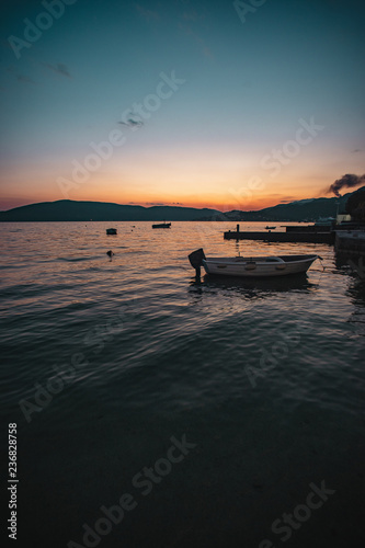 sunset on shore