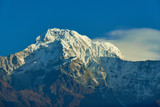Annapurna South Peak and pass in the Himalaya mountains, Annapurna region, Nepal