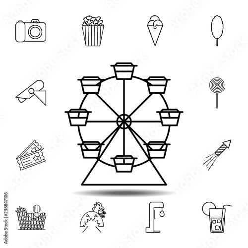 Ferris Wheel Icon Simple Outline Vector Element Of Amusement Set