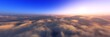 Over the clouds, A panorama of clouds, top view,