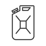 Canister vector icon in modern flat style isolated. Canister can support is good for your web design. - 236851748