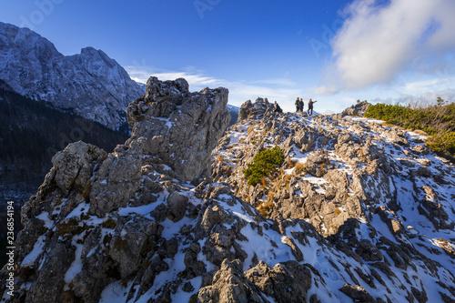 Tatra mountains view from the top of Sarnia Skala peak, Poland