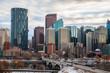 The Calgary downtown skyline in Alberta, Canada