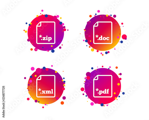 Download Document Icons File Extensions Symbols Pdf Zip Zipped