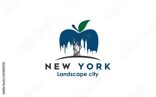 new york modern city landscape skyline logo design inspiration - 236885510