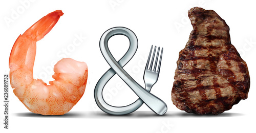 Surf And Turf Symbol - 236889732