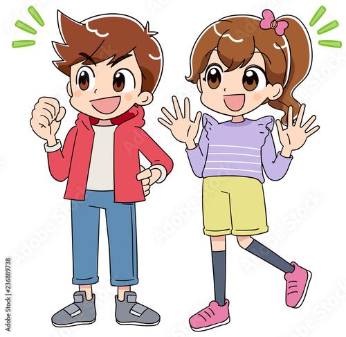 男の子と女の子 (アニメ・ゲーム風テイスト) - 236889738
