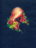 beautiful woman. fashion illustration. watercolor painting - 236902322