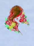 beautiful woman. fashion illustration. watercolor painting - 236902362