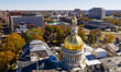 Urban Downtown City Skyline Trenton New Jersey State Capital