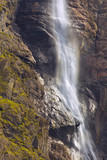 Detailed view of waterfall of Gavarnie, long exposition, Pyrenees Occidentales, France