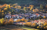 Slovakia village at autumn sunset landscape with house - Plavecke Podhradie - 236933138
