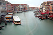 Passenger boat on the Grand Canal in Venice Italy Photographed w