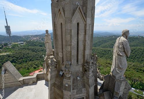 fototapeta na ścianę View from western side of Sagrat Cor Temple, Barcelona, Catalonia.