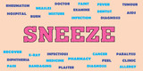 sneeze Medical tags word cloud