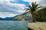 lake in the mountains. view of kotor montenegro