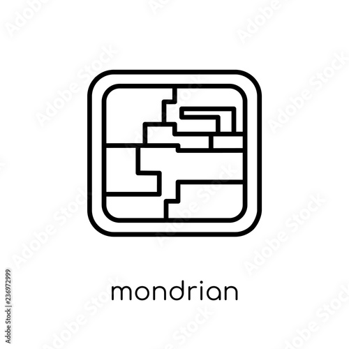 Mondrian icon from Museum collection. © t-vector-icons