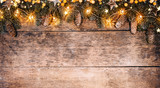 Decorative Christmas rustic background - 236983376