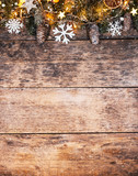 Decorative Christmas rustic background - 236983527