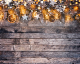 Decorative Christmas rustic background - 236983584