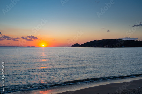 Sunset over west sea