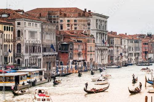 View of Venice from Rialto bridge