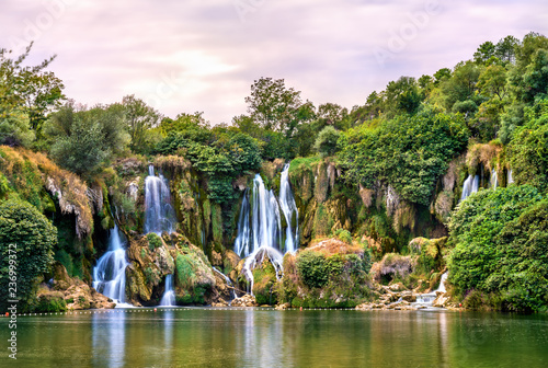 Kravica waterfalls on the Trebizat River in Bosnia and Herzegovina - 236999372
