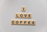 I love coffee letter blocks