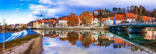 Travel in Bavaria. Landsberg am Lech - beautiful old town in Germany - 237001524