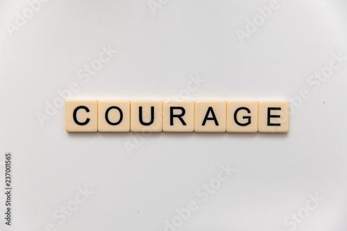 courage letter blocks