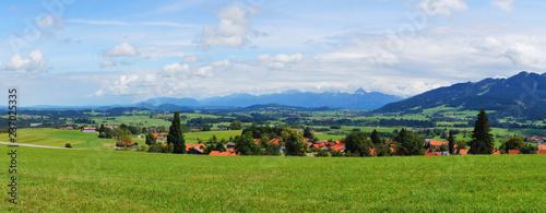 Blick von Oy Mittelberg auf das sommerliche Alpenvorland bei Füssen Panorama  - 237025335