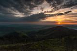 Wschód słońca w Gorcach,małopolska.
