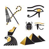 Set of ancient egypt silhouettes - 237026129
