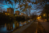 Valladolid ciudad histórica y cultural en España por la noche   . - 237043363