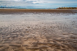 Sandy shore. extraordinary background