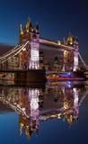 Tower Bridge at night in London, England, UK