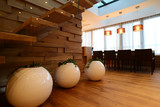 Ball planters as decoration in luxury interior
