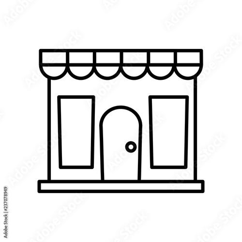 sklep ikona fasada budynku