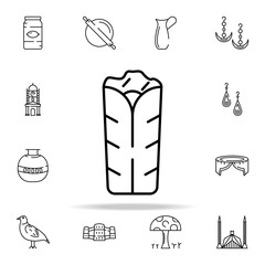 chicken roll icon. pakistan culture and landmarks icons universal set for web and mobile