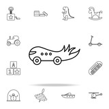 children car line icon. toys icons universal set for web and mobile