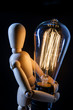 Wooden Art Doll Lightbulb
