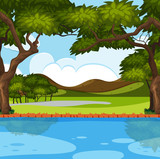 Outdoor nature river scene