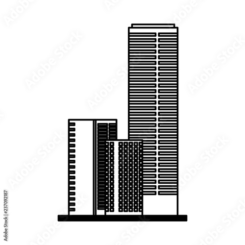 buildings architecture on white background