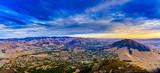 Cool Bishop Peak Sunset over San Luis Obispo, CA