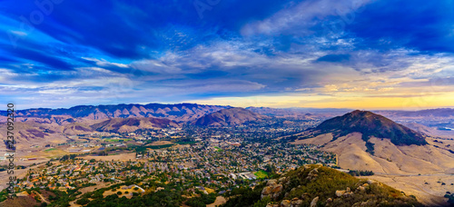 Fototapeta Cool Bishop Peak Sunset over San Luis Obispo, CA