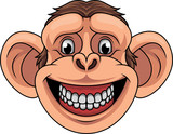 Cartoon monkey head mascot - 237105114