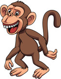 Cartoon funny little monkey - 237105167