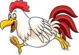 Cartoon rooster running - 237105301