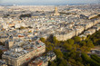 Panorama of Paris with Hotel des Invalides